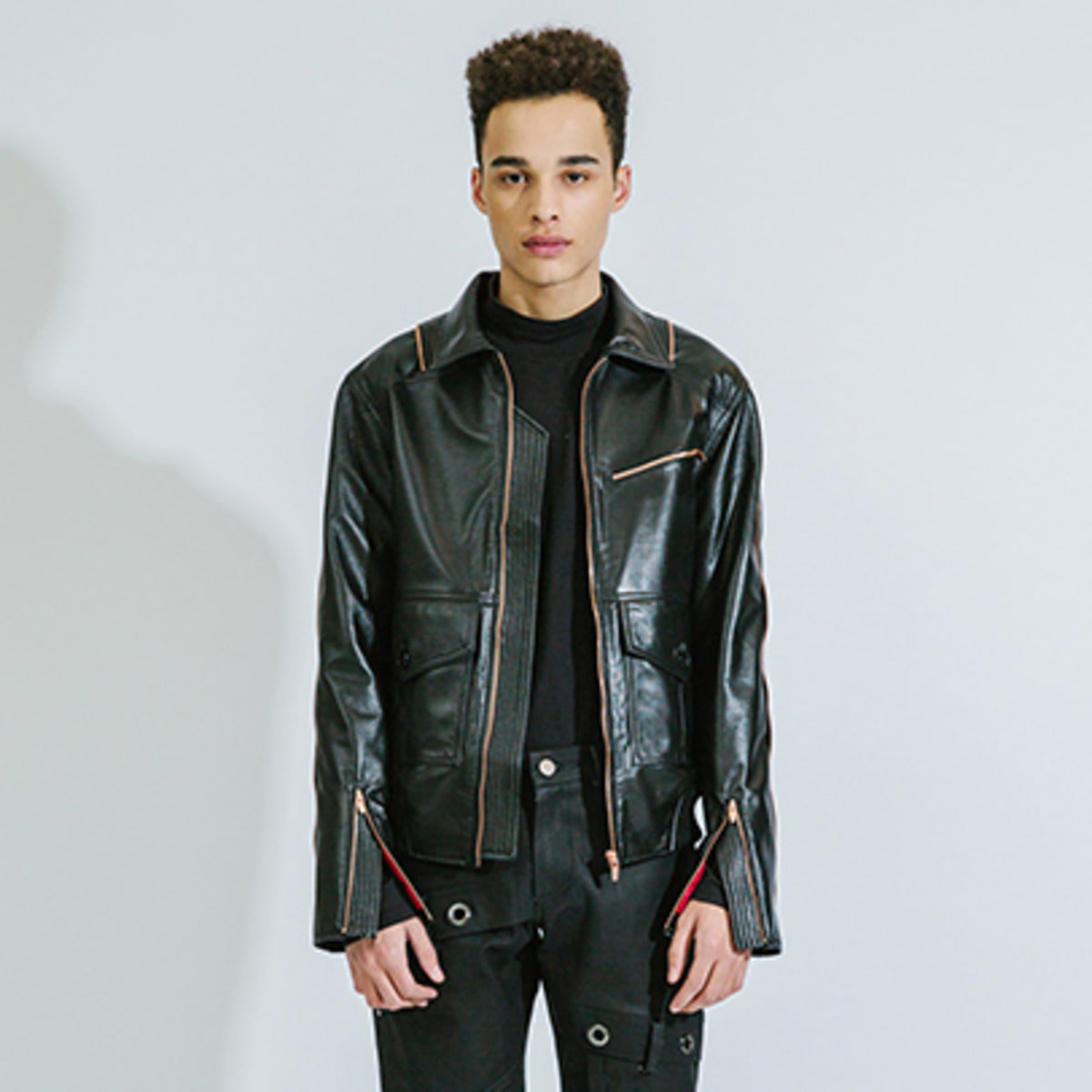 BORN ZIP DETAILED BIKER JACKET