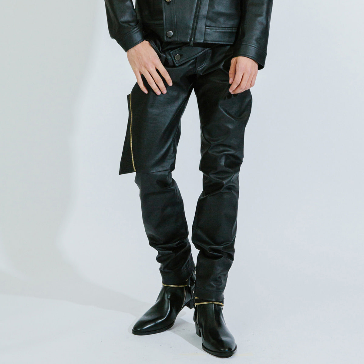 GHOST BLACK COATED DENIM JEAN