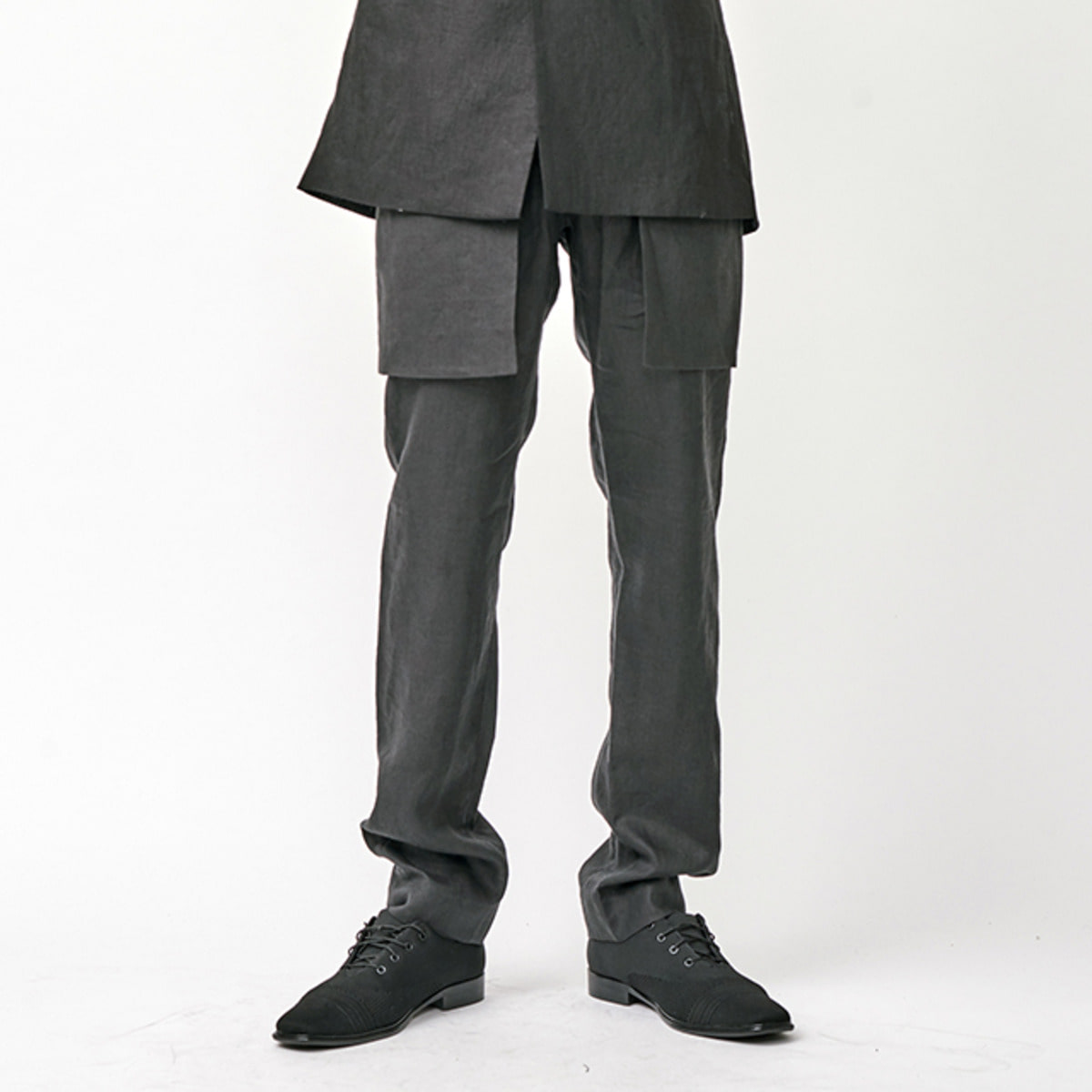 BLAZER DETAILED LINEN TROUSER