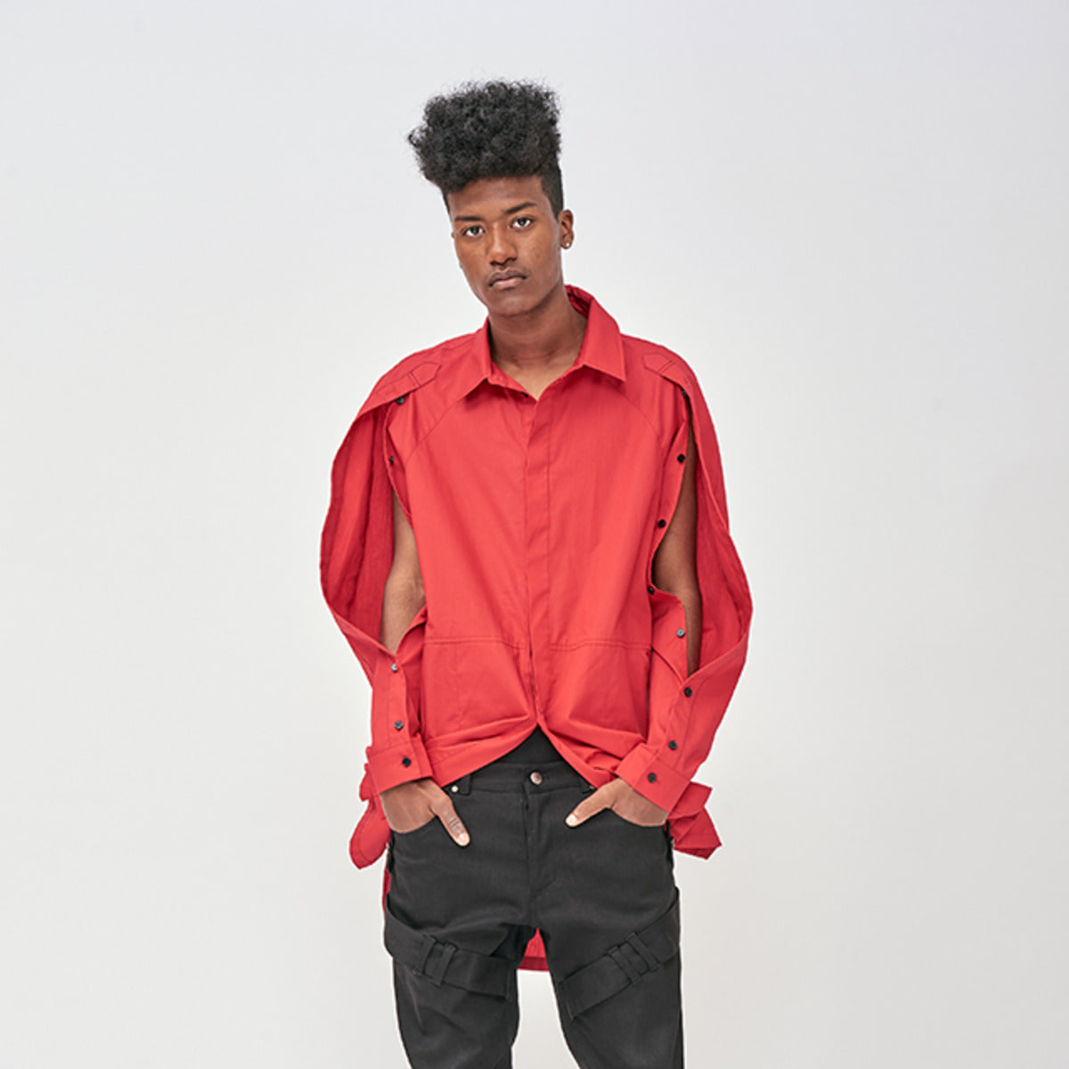 OVERSIZED RED PLACKET SHIRTS