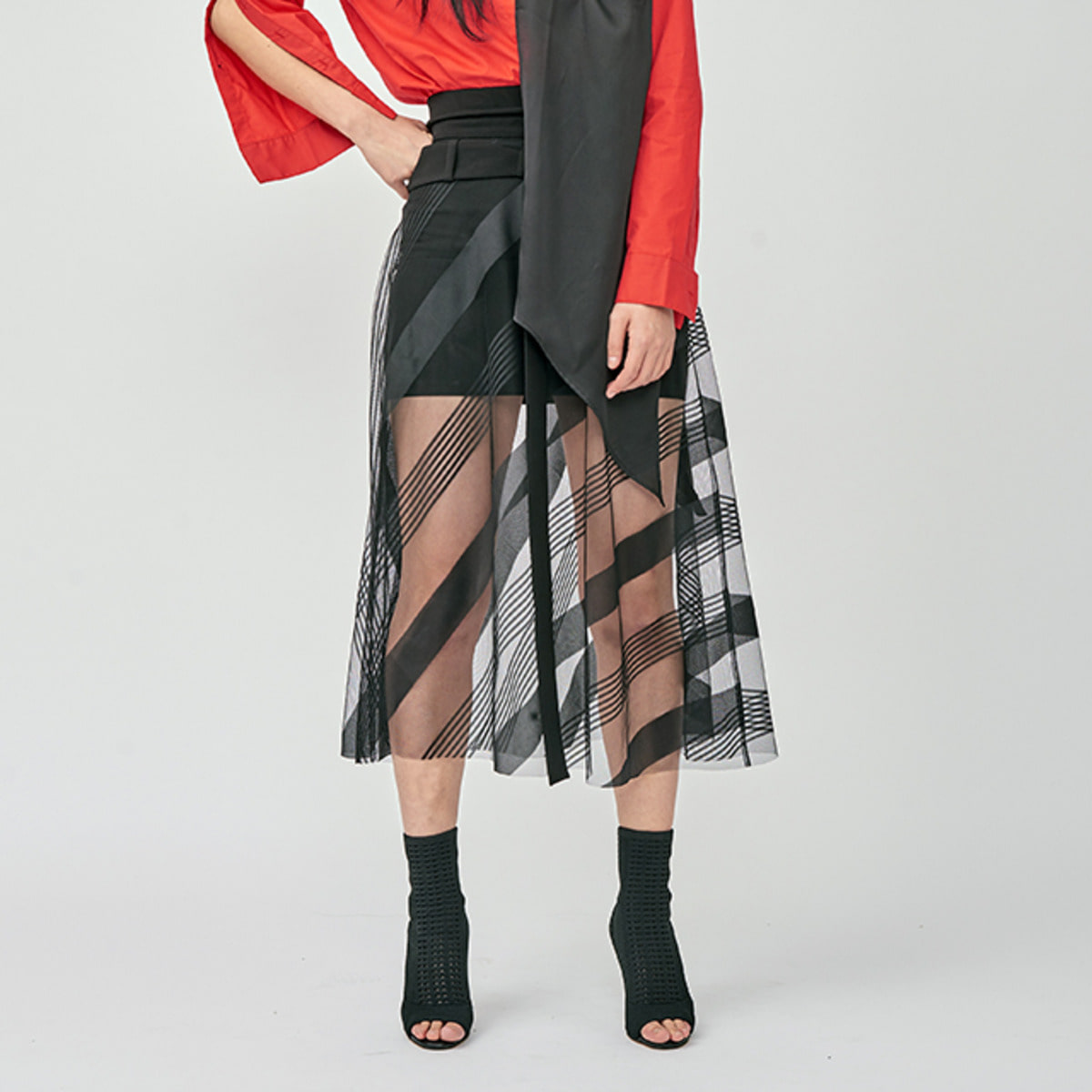 DIAGONAL COMBINED SKIRTS