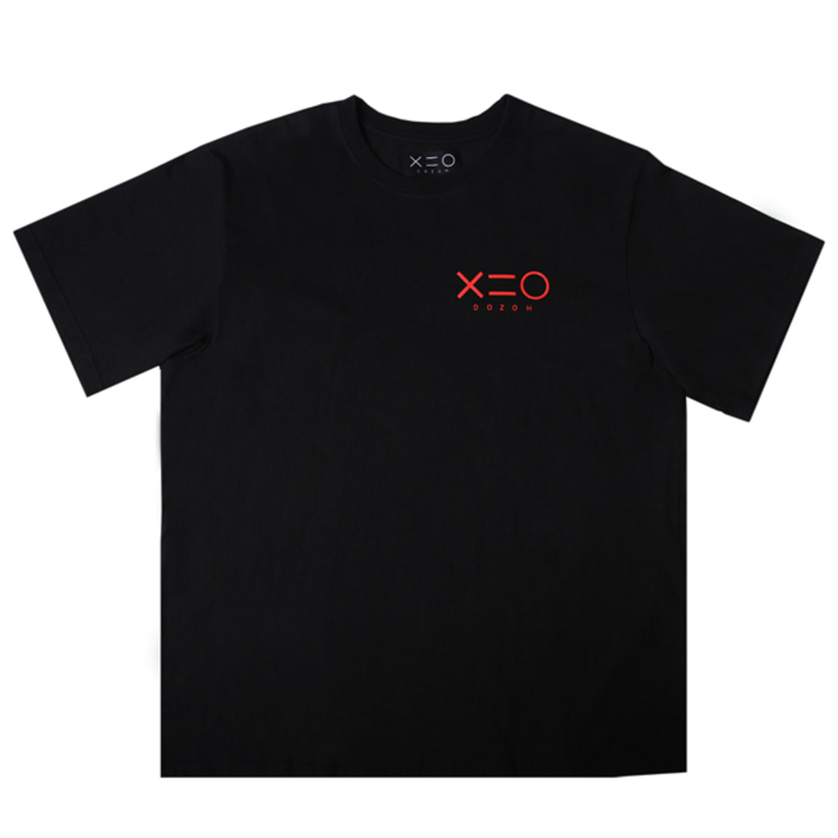 BLACK DOZOH RED LOGO T-SHIRTS
