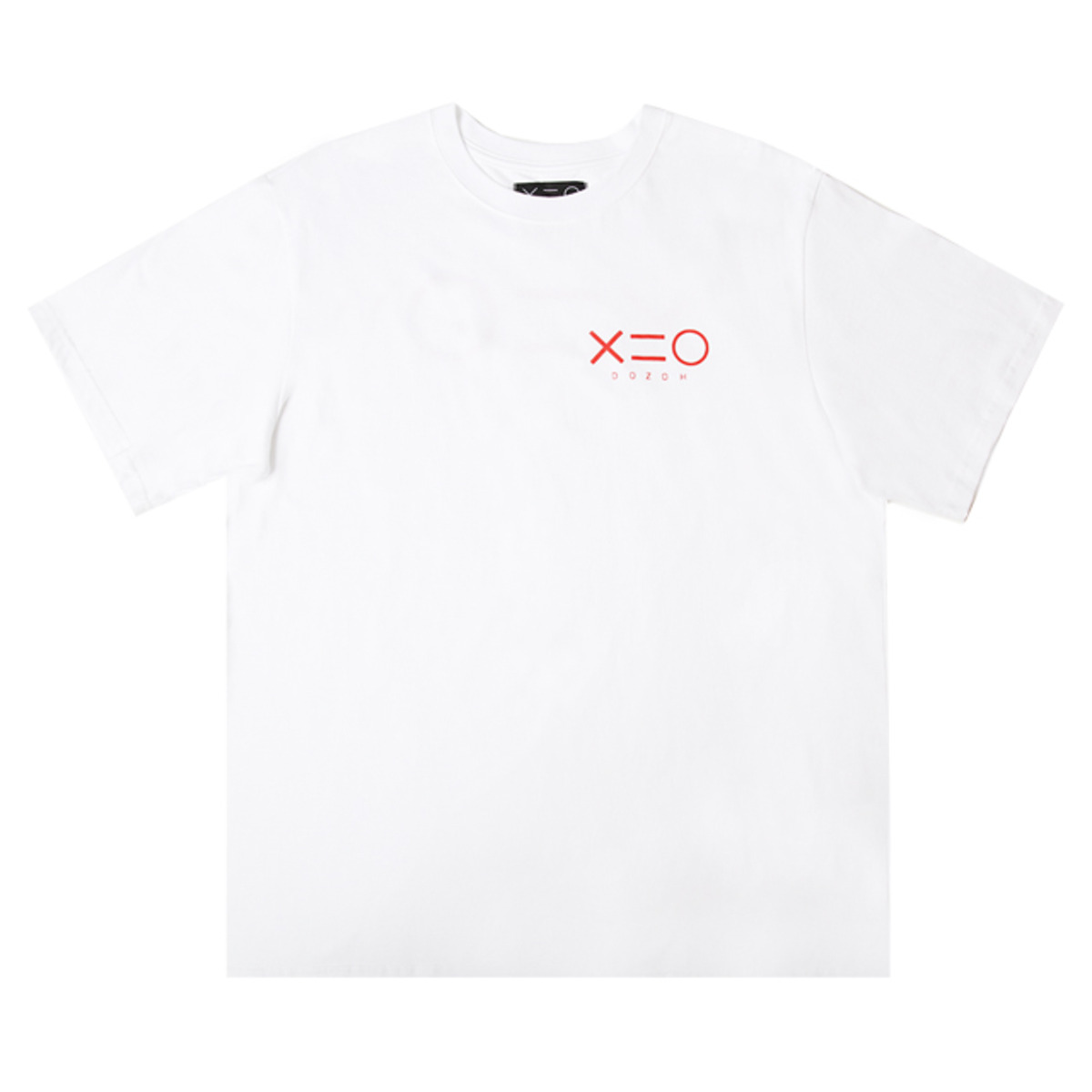 WHITE DOZOH RED LOGO T-SHIRTS
