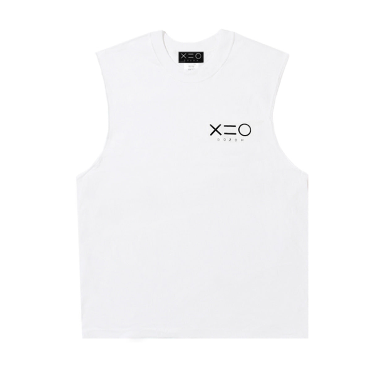 WHITE DOZOH LOGO SLEEVELESS T-SHIRTS