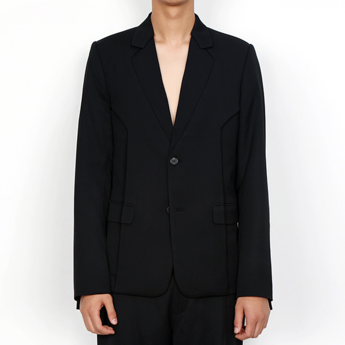 BLACK LAYER BLAZER JACKET