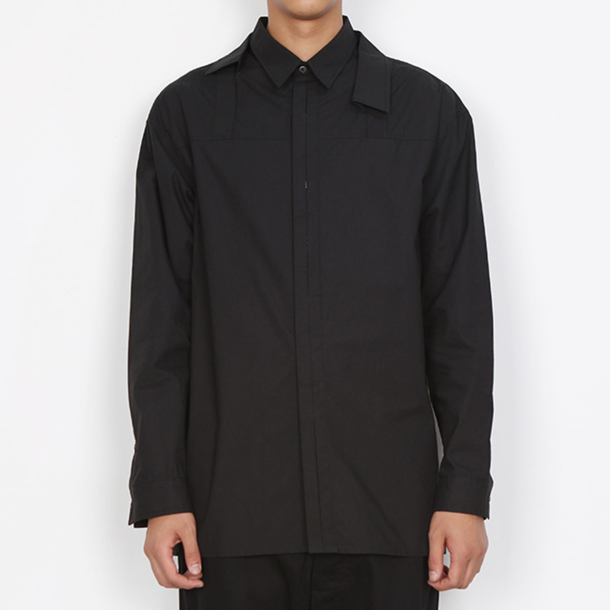 ASYMMETRY TWO COLLARS SHIRTS