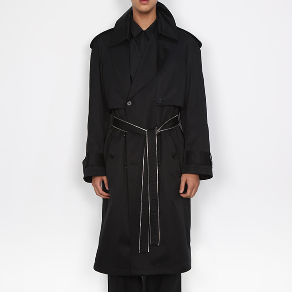 DOUBLE COLLAR TRENCH COAT