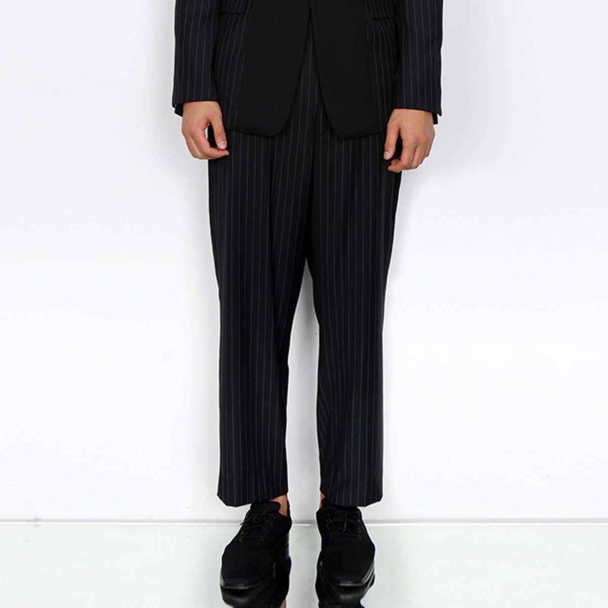 BLACK PIN-STRIPED TROUSER