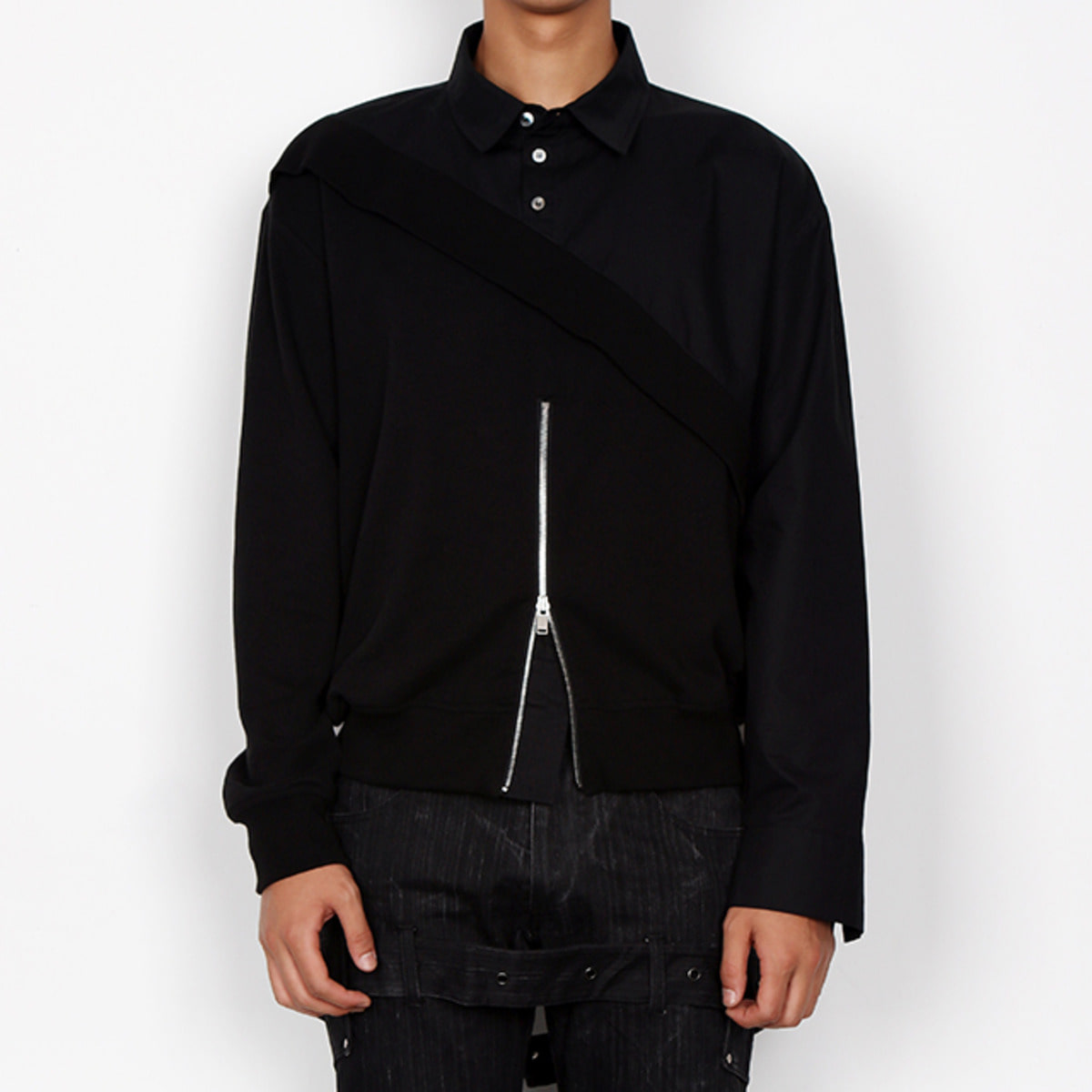 ASYMMETRY SHIRTS COMB SWEATSHIRTS