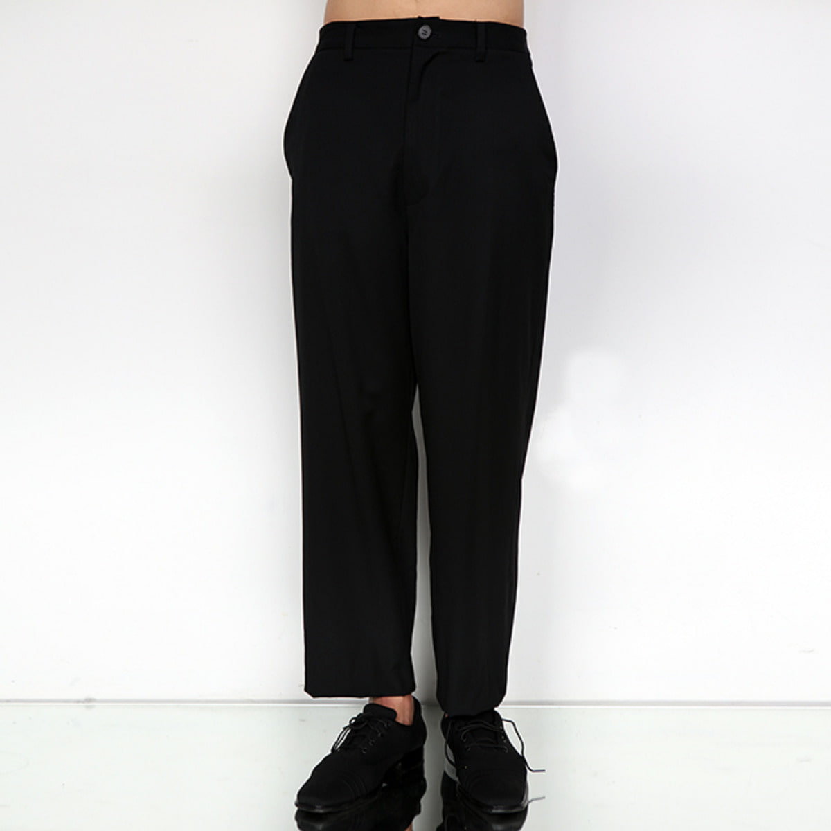 BLACK L WOOL TROUSER
