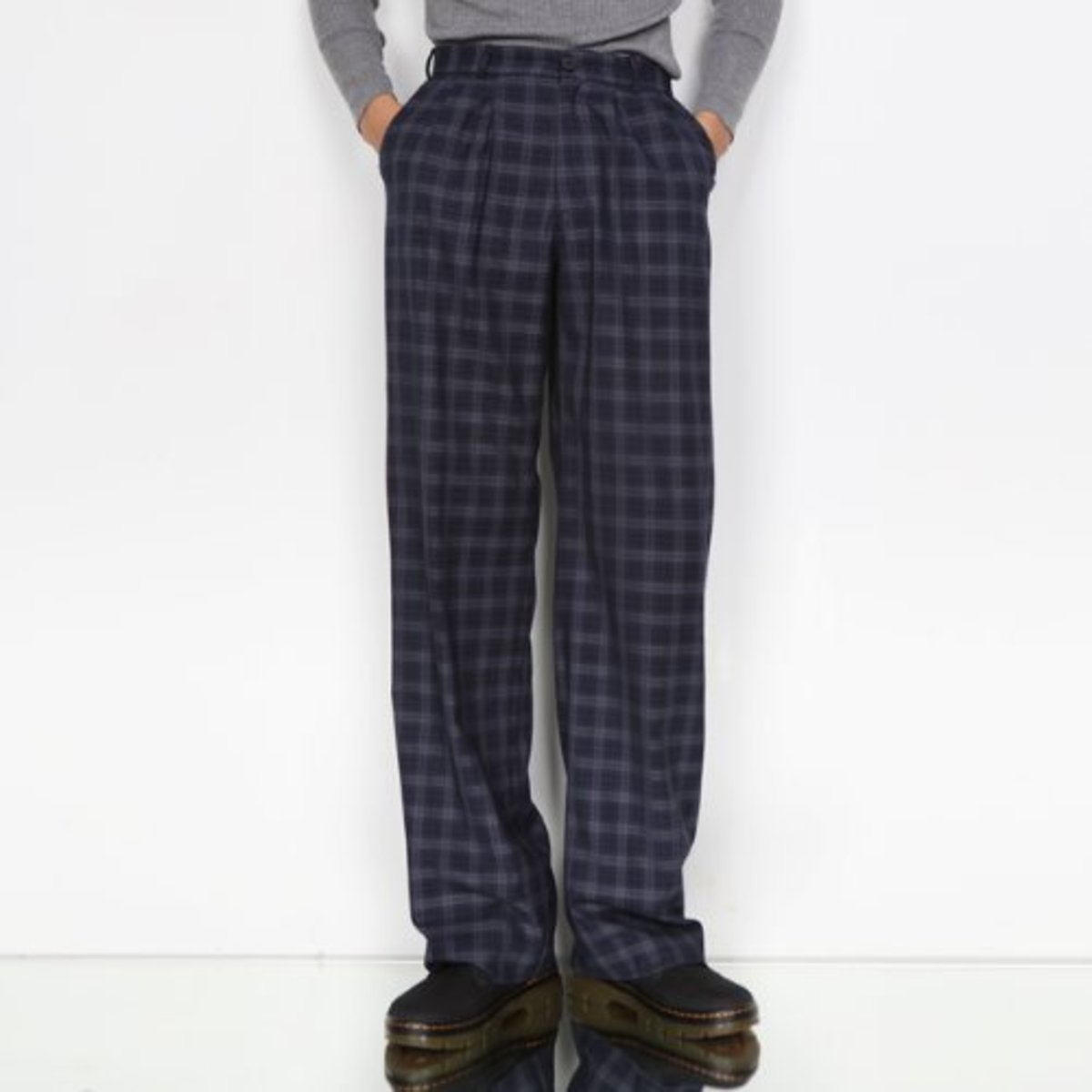 BLUE CHECK TROUSER