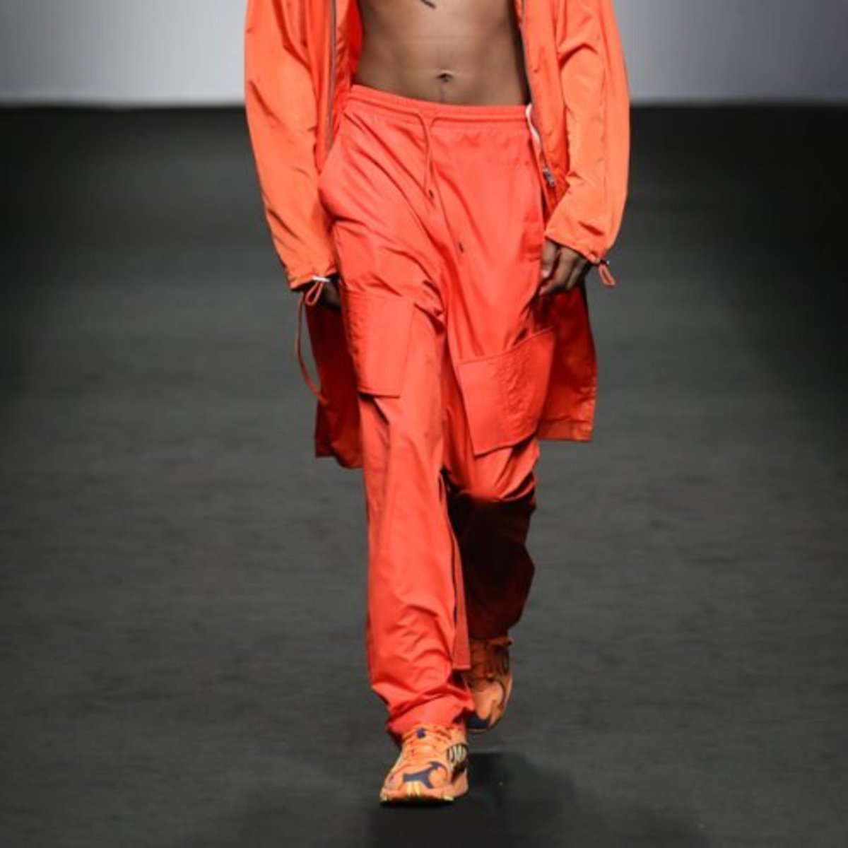 ORANGE LAYERED VELCRO PANTS