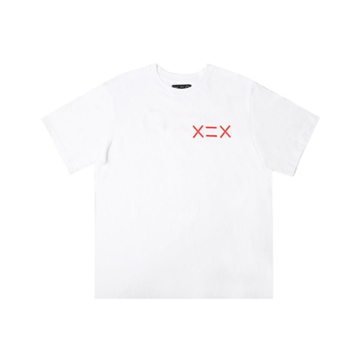 WHITE DZH RED LOGO T-SHIRTS