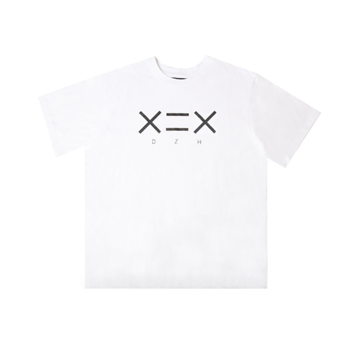 WHITE DZH F/BLACK LOGO T-SHIRTS