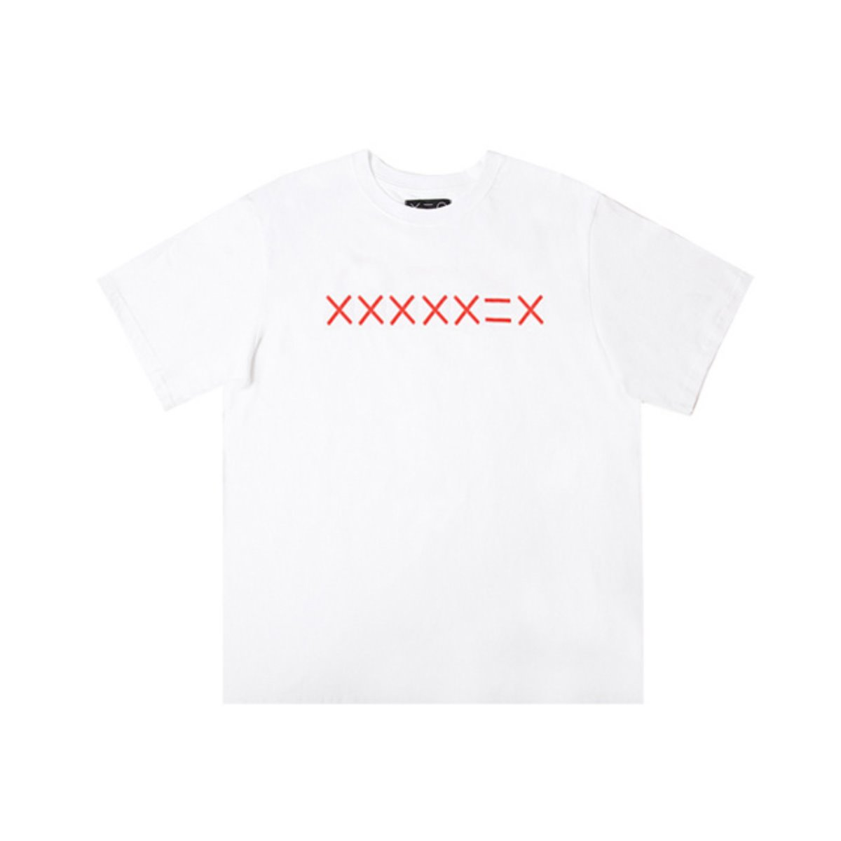 WHITE XXXXDZH RED LOGO T-SHIRTS