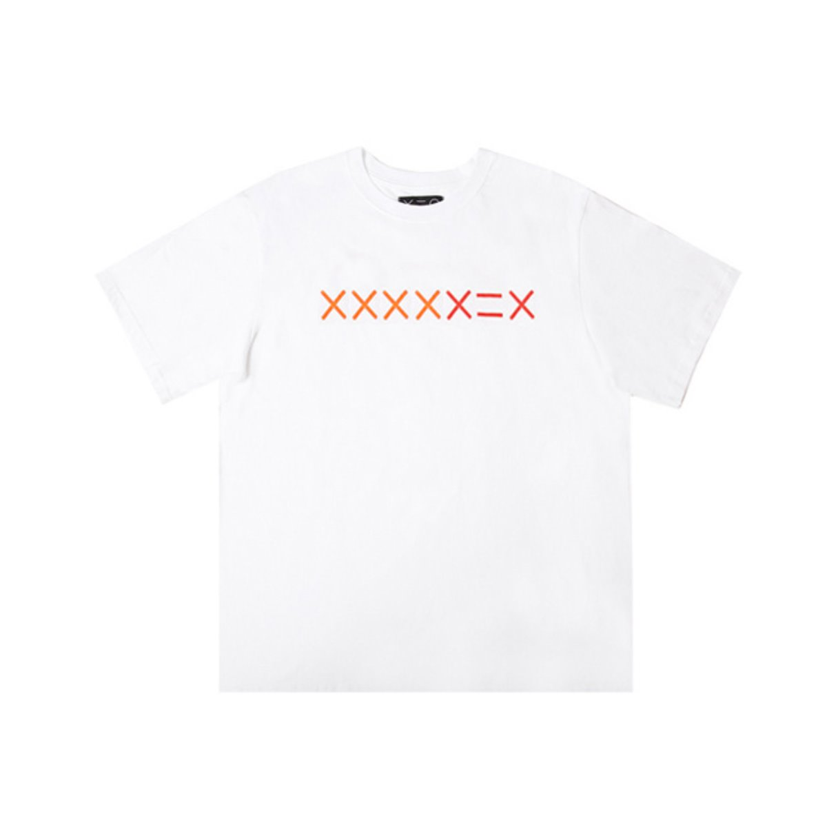 WHITE XXXXDZH ORANGE/RED LOGO T-SHIRTS