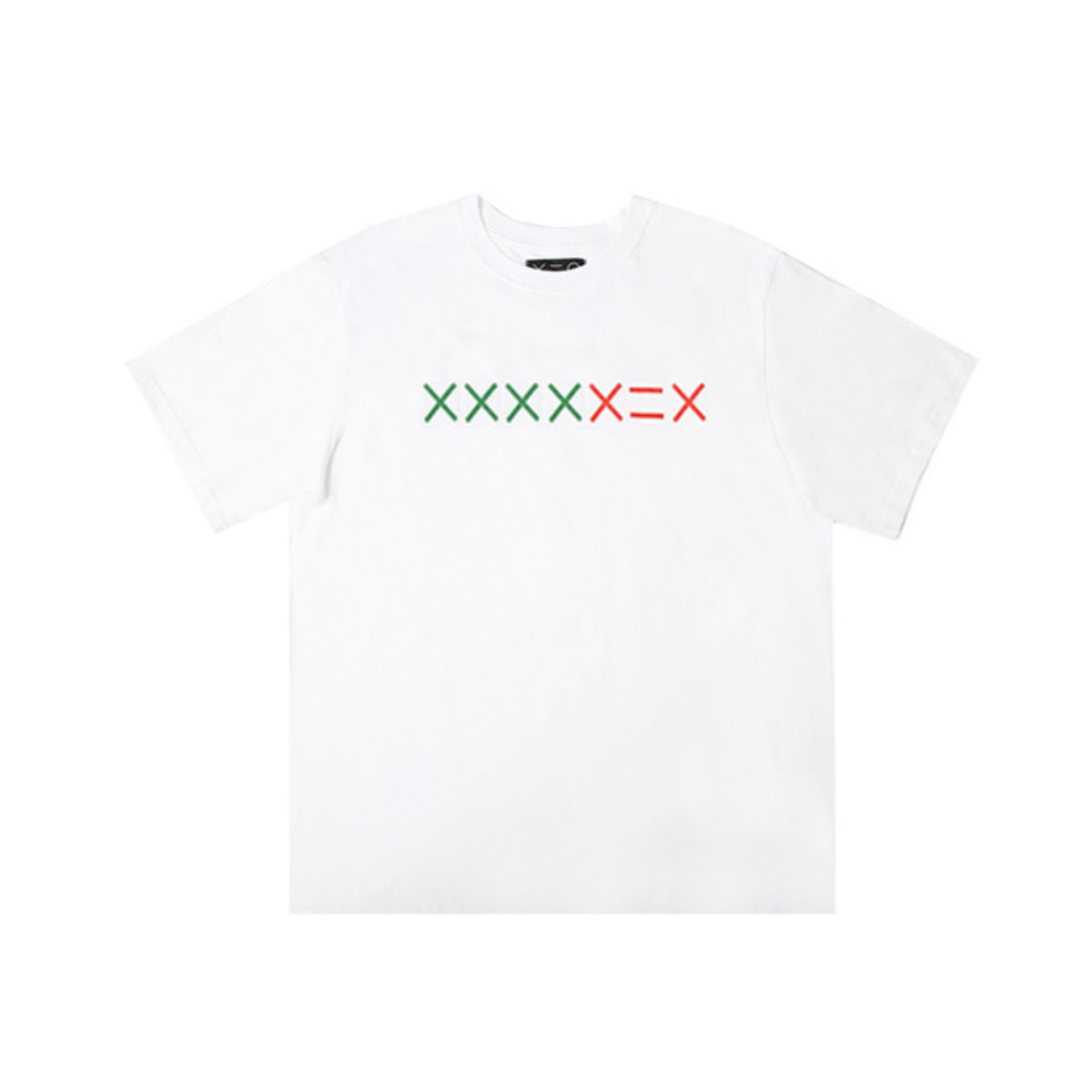 WHITE XXXXDZH GREEN/RED LOGO T-SHIRTS