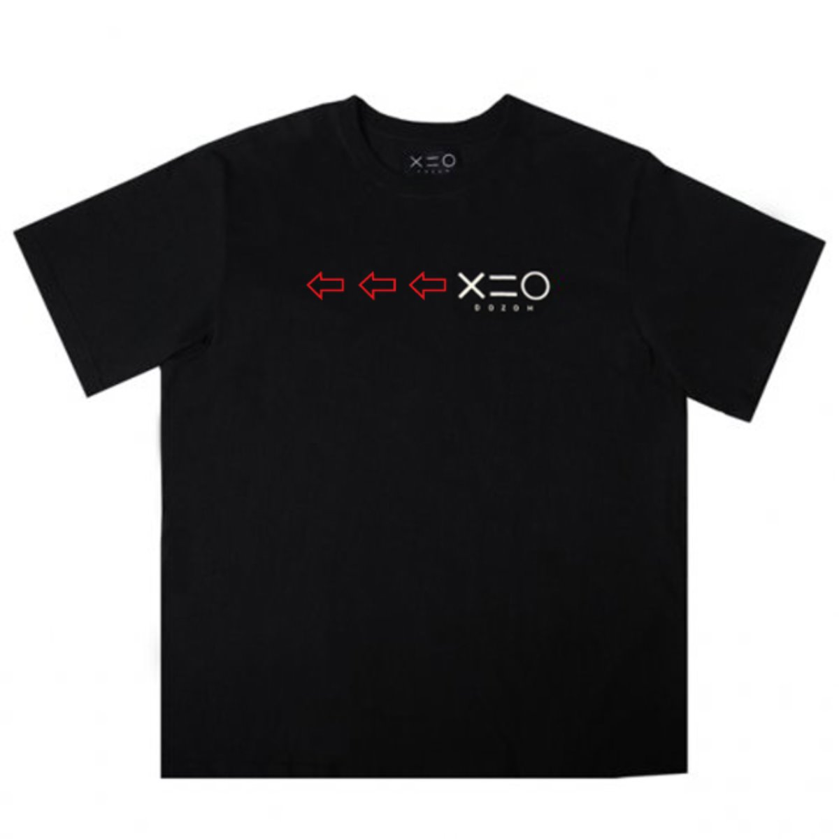 BLACK DOZOH RED/WH ARROW&LOGO T-SHIRTS