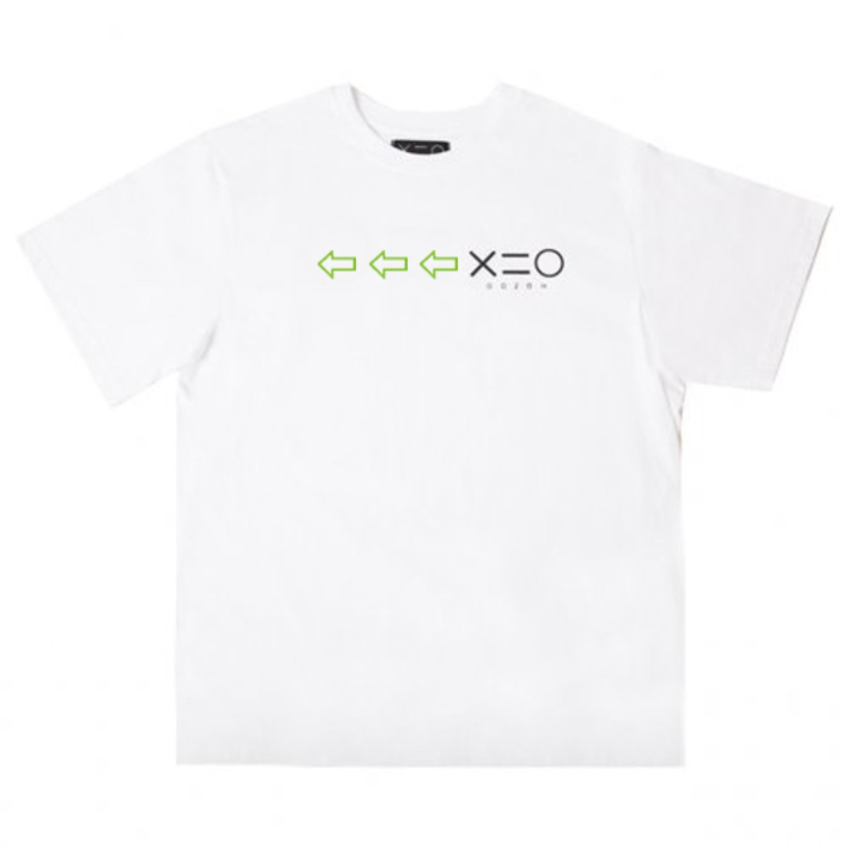 WHITE DOZOH APPLE GREEN/BK ARROW&LOGO T-SHIRTS