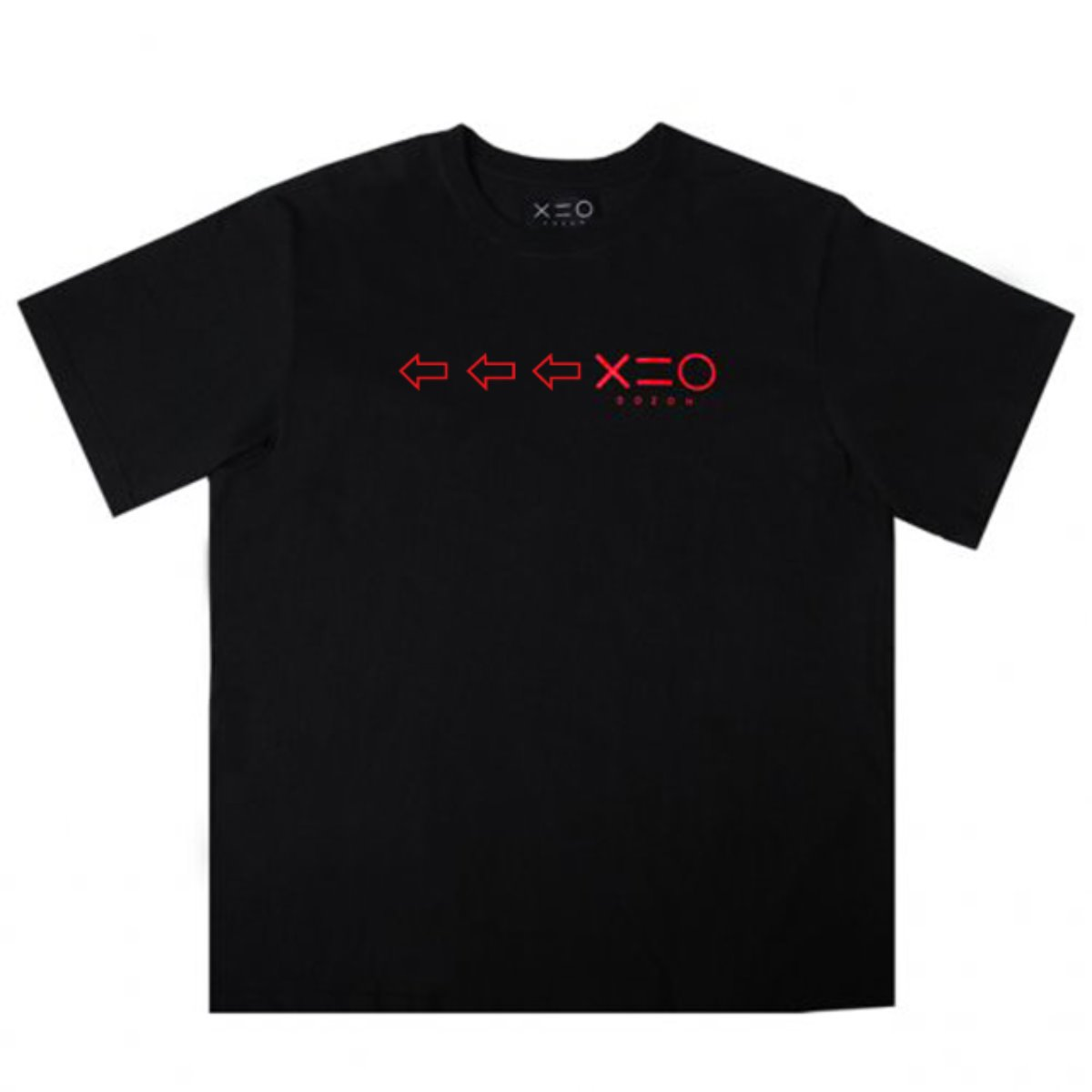 BLACK DOZOH RED ARROW&LOGO T-SHIRTS