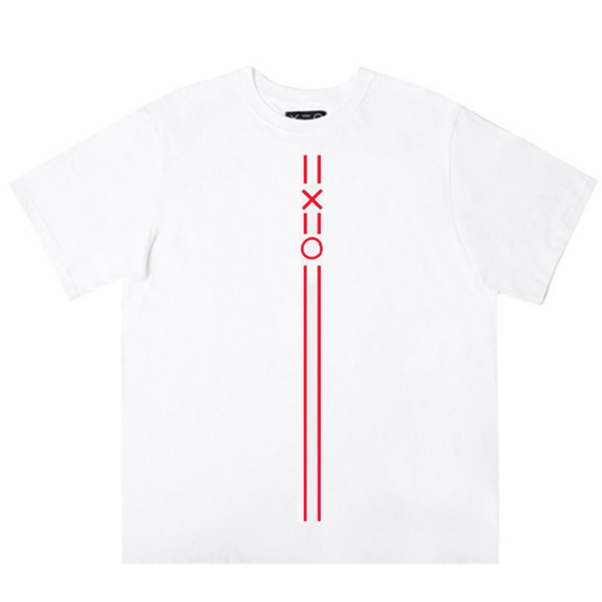 WHITE DOZOH RED EQUAL V LINE&LOGO T-SHIRTS 2