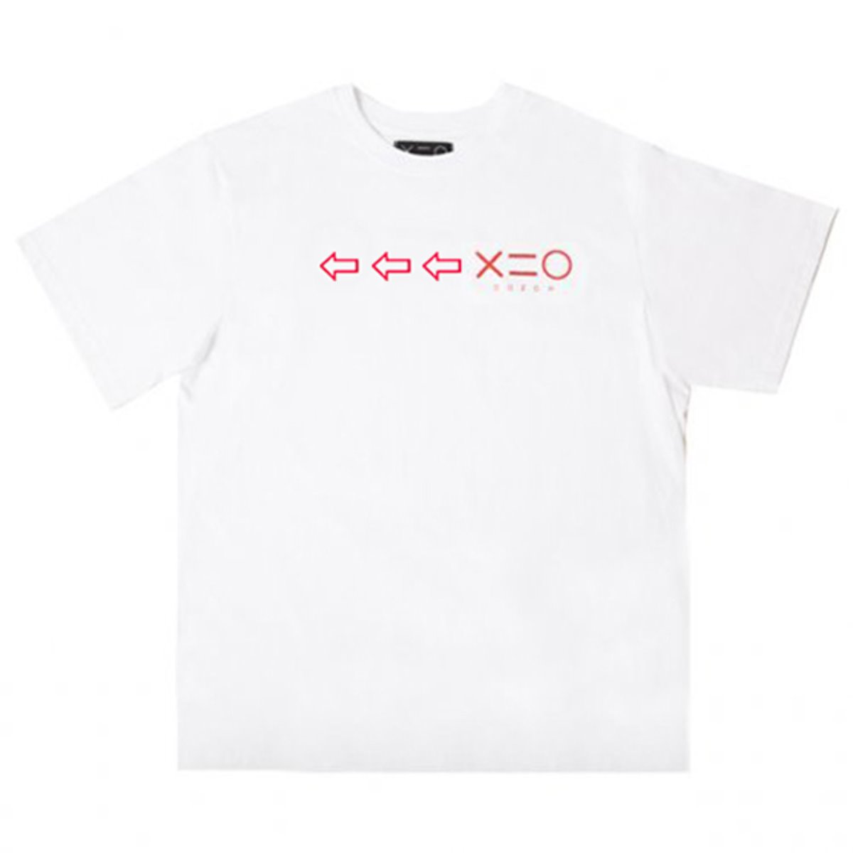WHITE DOZOH RED ARROW&LOGO T-SHIRTS