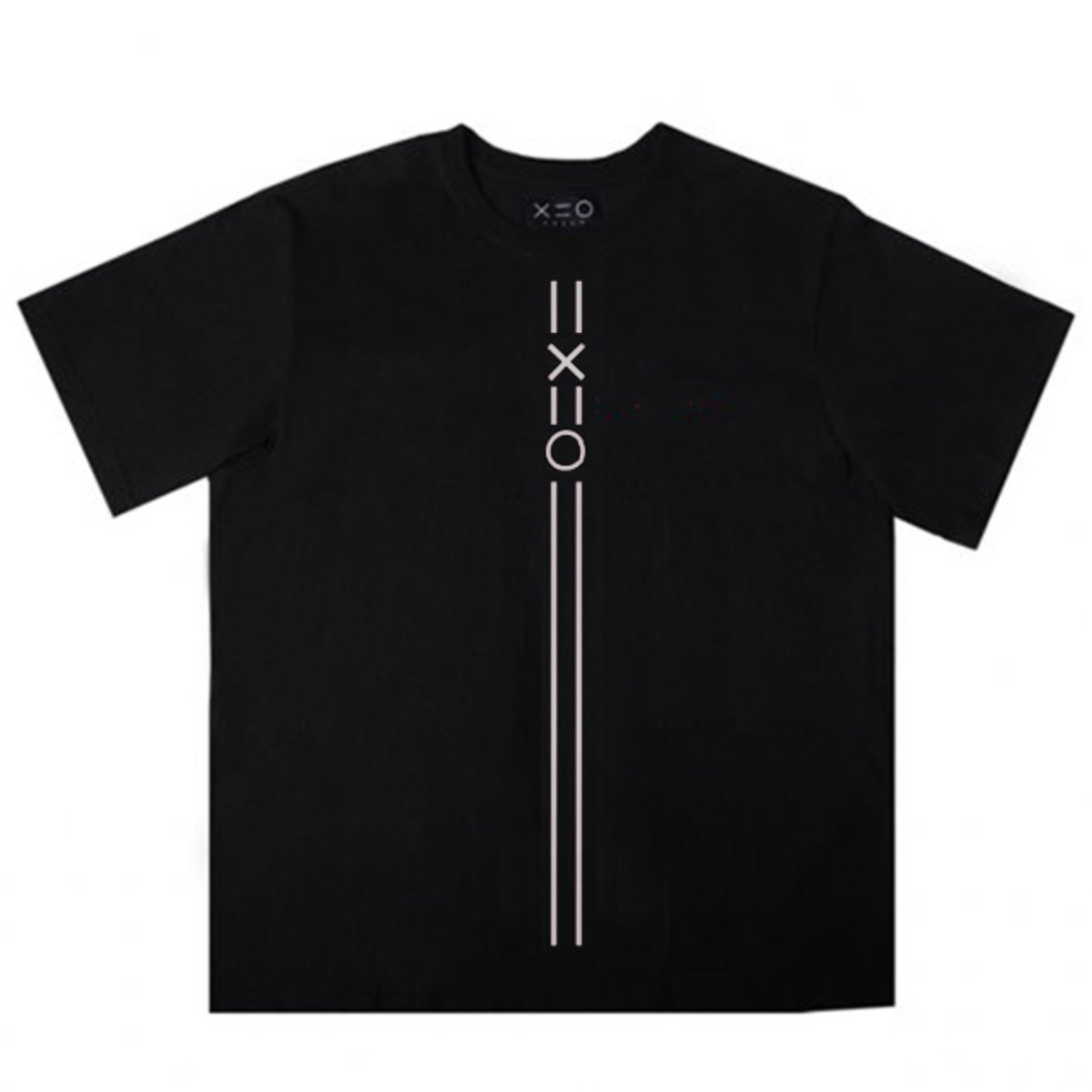 BLACK DOZOH WHITE EQUAL V LINE&LOGO T-SHIRTS 2