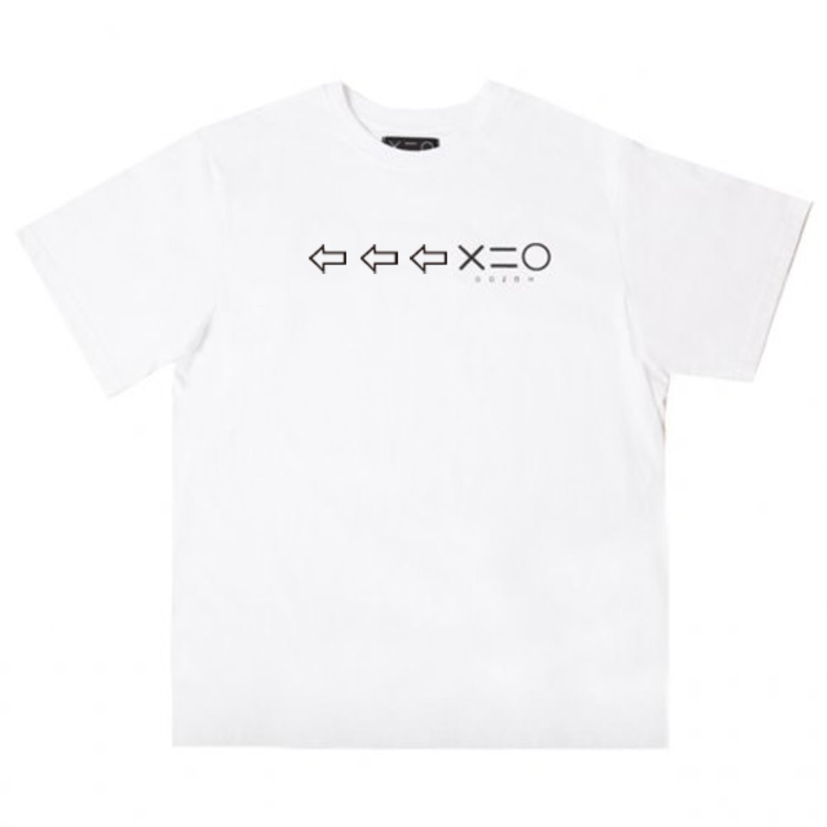 WHITE DOZOH BLACK ARROW&LOGO T-SHIRTS