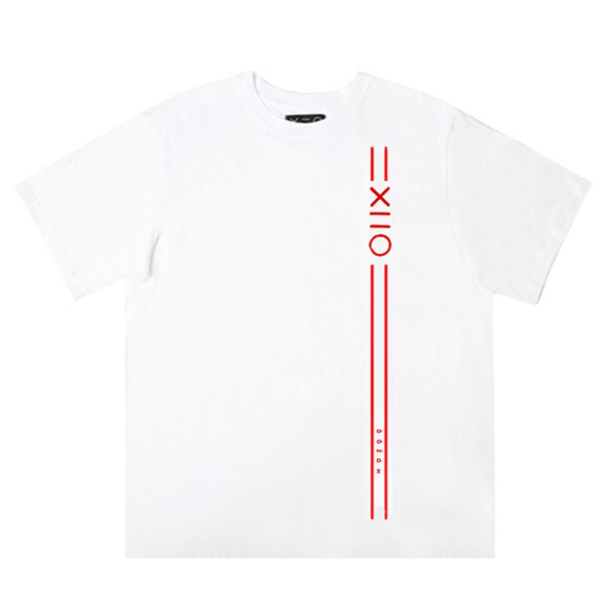 WHITE DOZOH RED EQUAL V LINE&LOGO T-SHIRTS