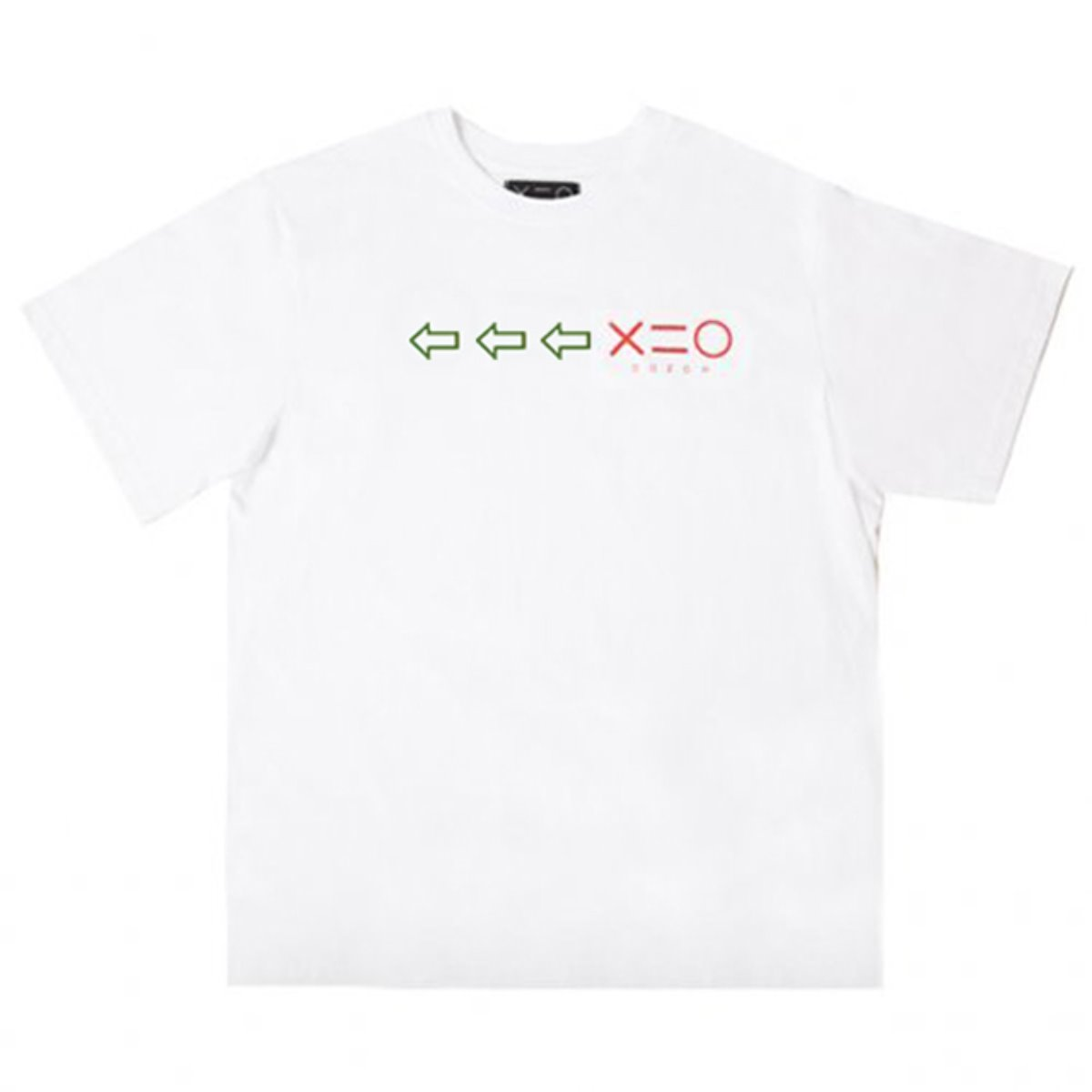 WHITE DOZOH GREEN/RED ARROW&LOGO T-SHIRTS