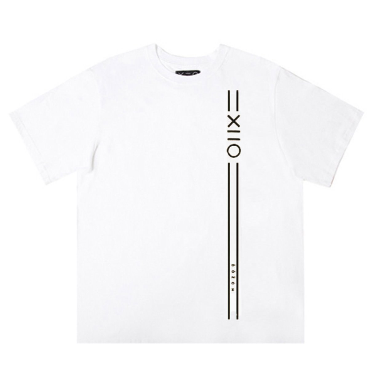 WHITE DOZOH BLACK EQUAL V LINE&LOGO T-SHIRTS