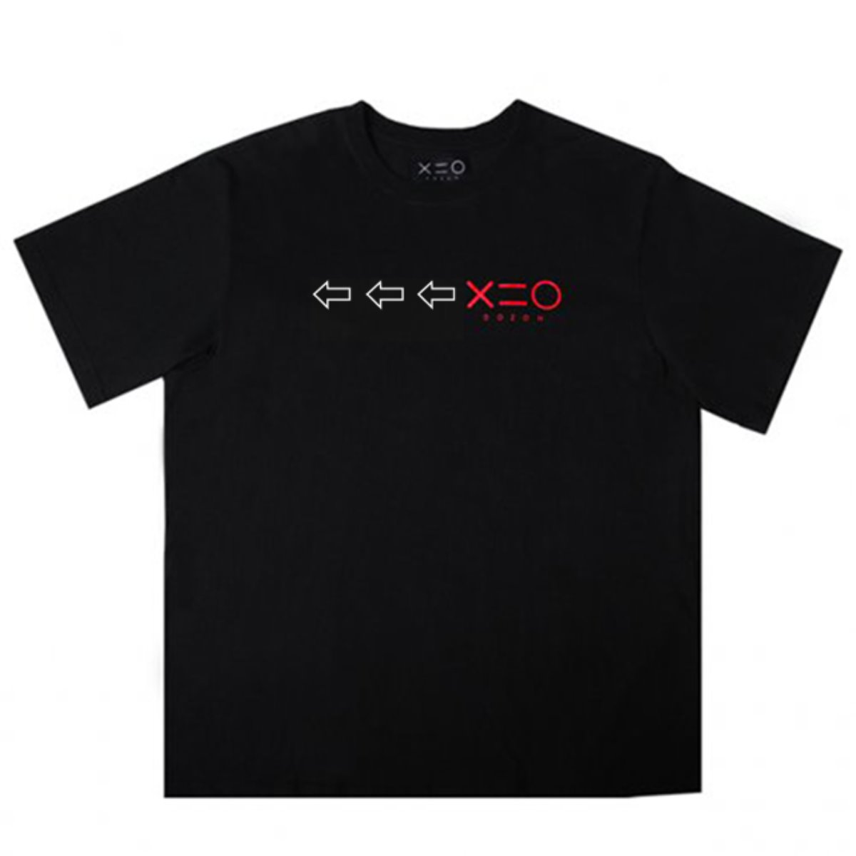 BLACK DOZOH WH/RED ARROW&LOGO T-SHIRTS