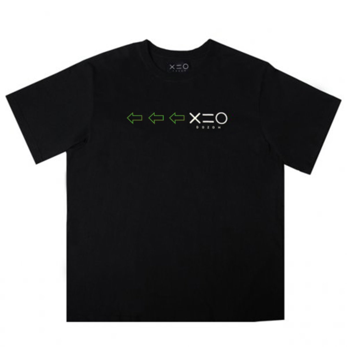 BLACK DOZOH GREEN/WH ARROW&LOGO T-SHIRTS