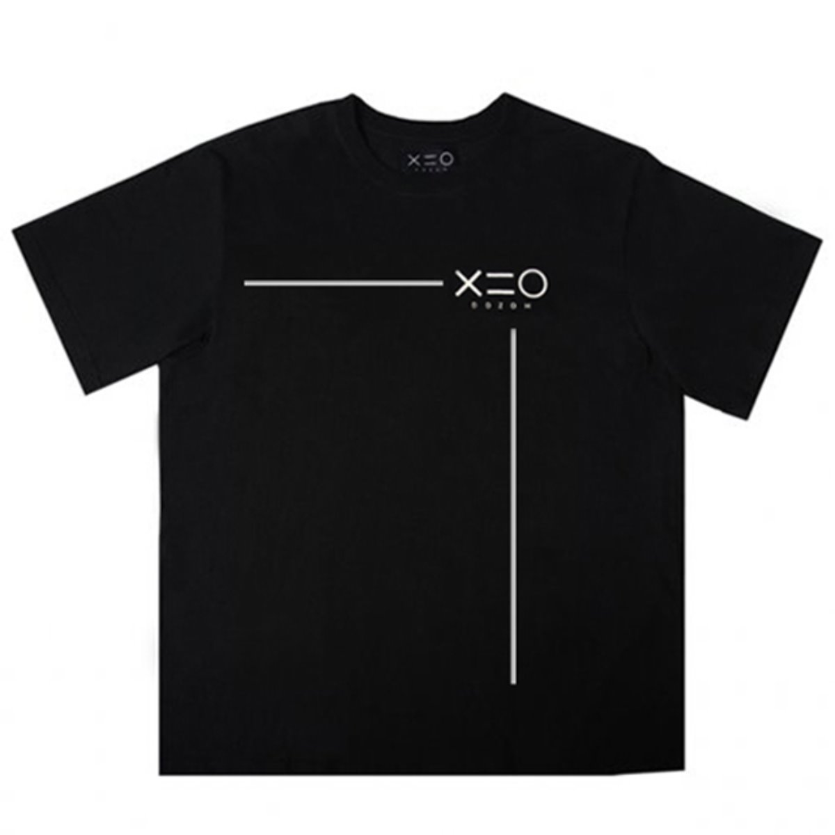 BLACK DOZOH WHITE LINE&LOGO T-SHIRTS