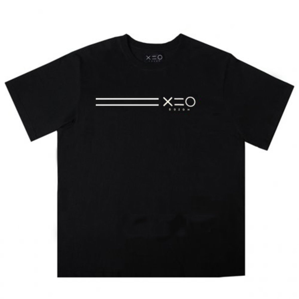 BLACK DOZOH WHITE EQUAL LINE&LOGO T-SHIRTS