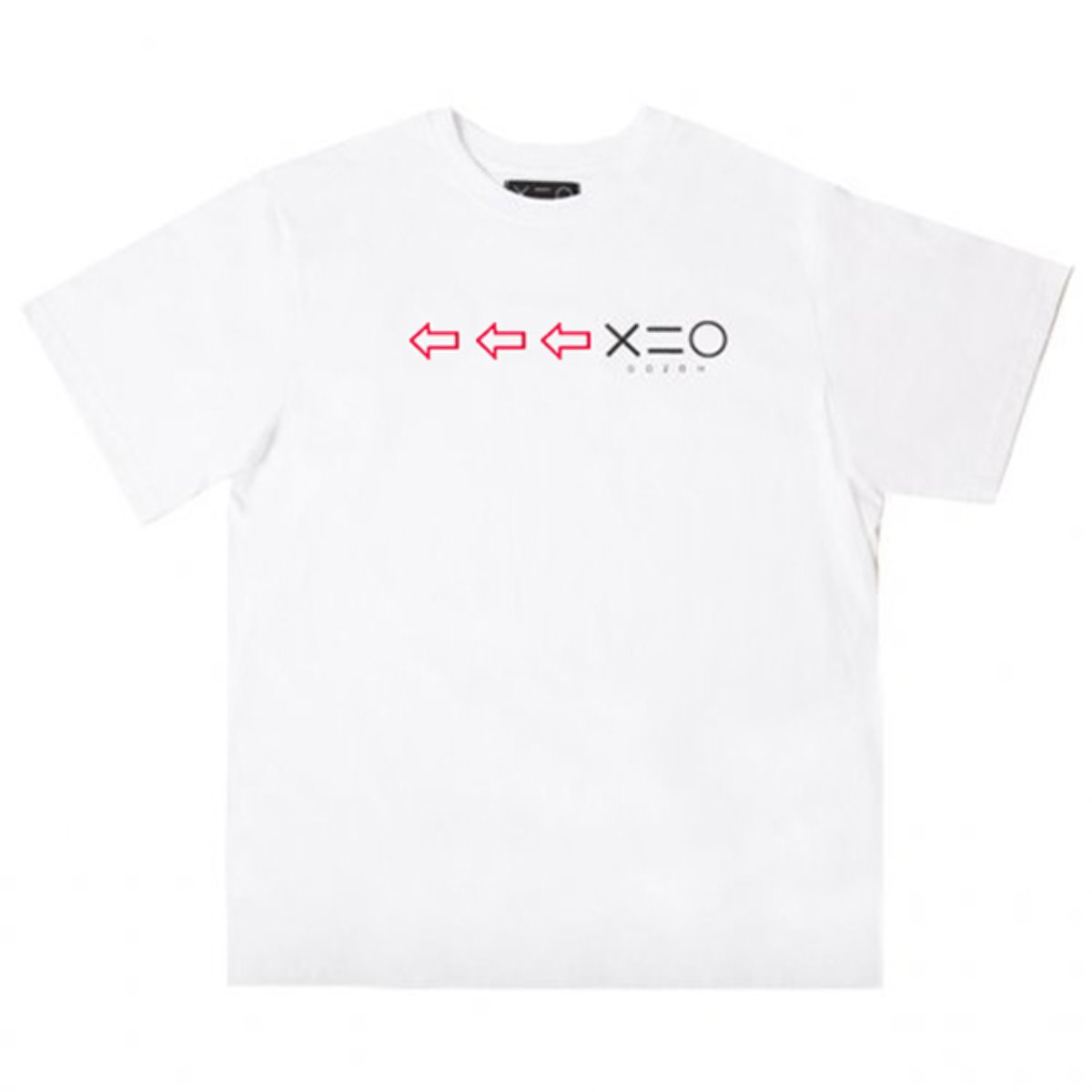 WHITE DOZOH RED/BK ARROW&LOGO T-SHIRTS
