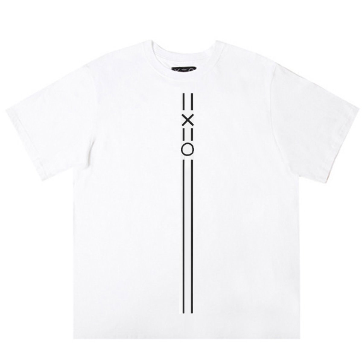 WHITE DOZOH BLACK EQUAL V LINE&LOGO T-SHIRTS 2