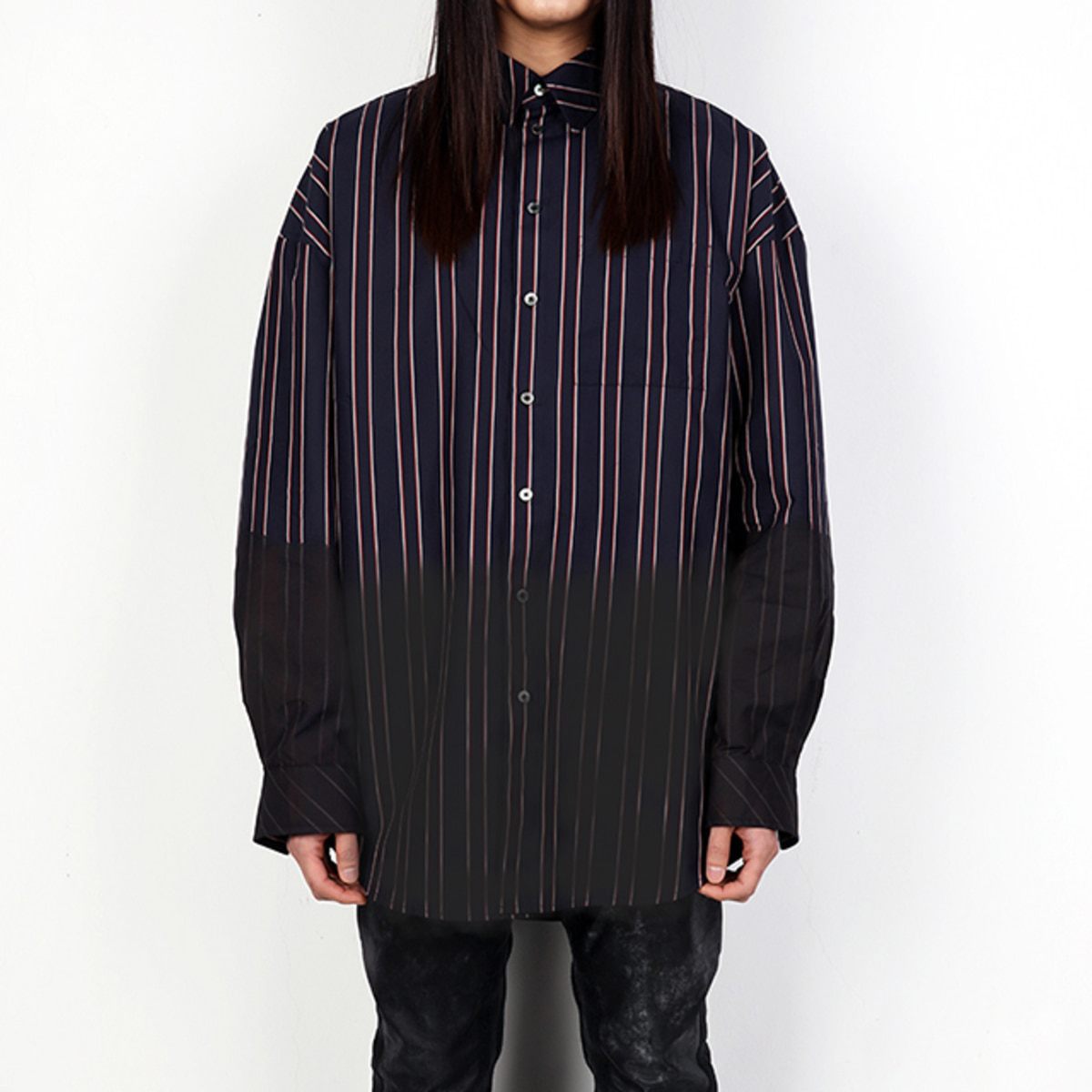 INFECTED NAVY STRIPED SHIRTS (DZFW19_TP_SH02)