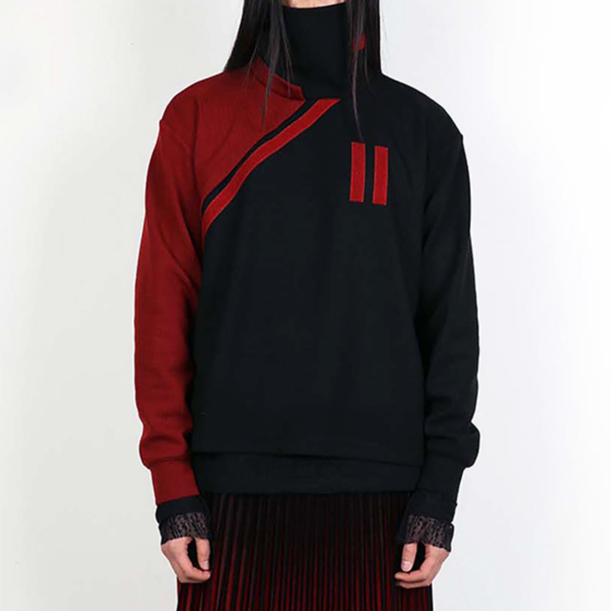 EQUAL VELCRO WOOL KNIT SWEATER (DZFW19_TP03)