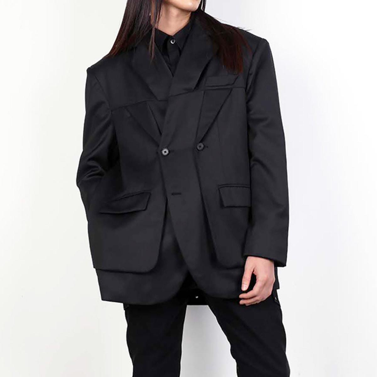 DIVIDED LAPEL BLAZER (DZFW19_OT_BZ01)