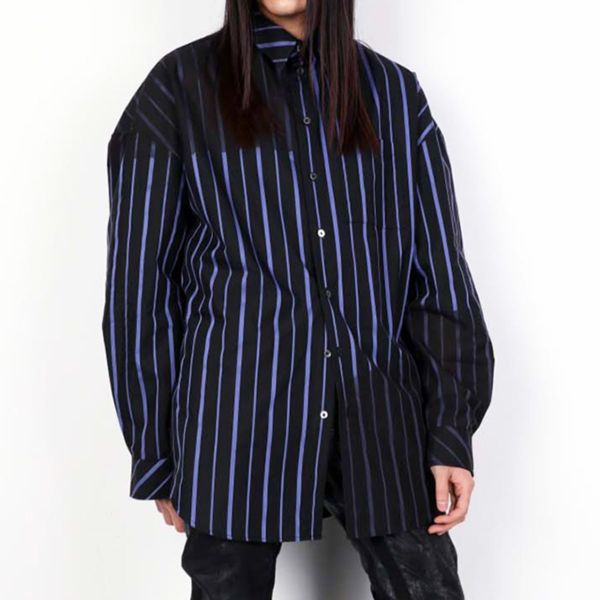 INFECTED BLUE STRIPED SHIRTS (DZFW19_TP_SH01)