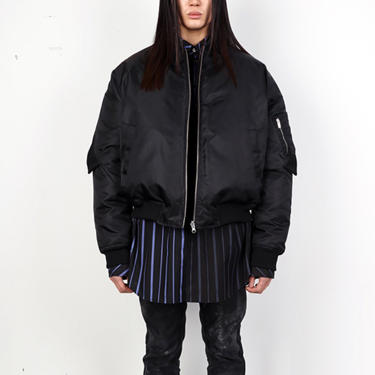 DOUBLE RIB LAYERED REVERSIBLE GOOSE DOWN JACKET (DZFW19_OT_JK02)