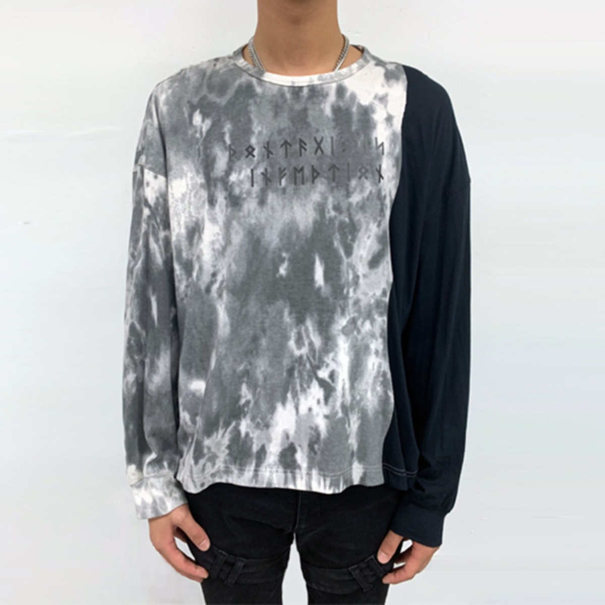 CONTAGIOUS INFECTION TIE DYE LAYERED SWEATSHIRTS (DZFW19_TP05)