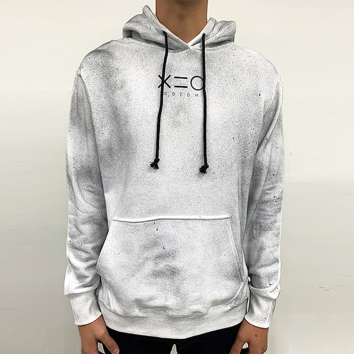 INFECTED WHITE HOODY SWEATSHIRTS (DZFW19_TP17)