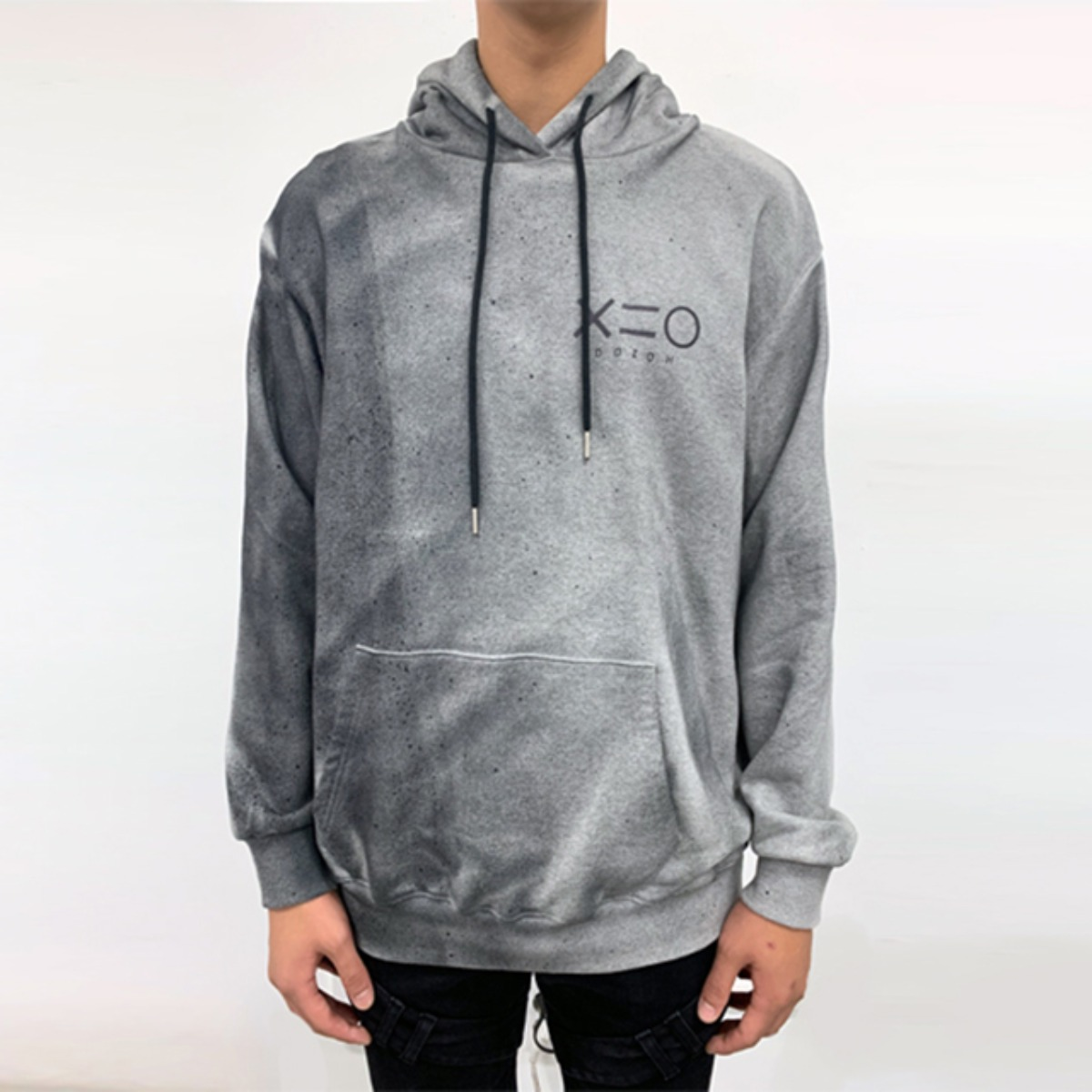 POLLUTION GREY HOODY SWEATSHIRTS (DZFW19_TP16)